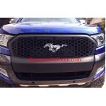 กระจังหน้า FORD RANGER 2015-2017 ลาย MUSTANG ม้า 3 มิติ