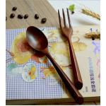 Brown Spoon & Fork Wood Set ช้อนส้อมไม้สีเข้ม