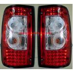 ไฟท้าย TOYOTA MIGHTY-X 91-98 ขาวแดงเพชร LED
