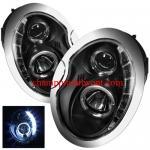 ไฟหน้าโปรเจคเตอร์ MINI COOPER 02-06 ดำ วงแหวน LED ยาว