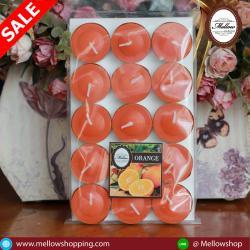 เทียนหอมทีไลท์ [Tealight Candle] กลิ่น ส้ม [Tangerine] 15 ชิ้น ต่อแพ็ค
