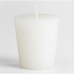 White Unscented Votive Candle: Pack of 6