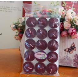 เทียนหอมทีไลท์ [Tealight Candle] กลิ่น บลูเบอร์รี่ [Blueberry] 15 ชิ้น ต่อแพ็ค