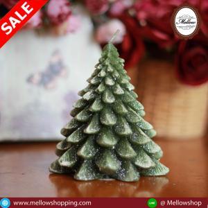 เทียนต้นสนคริสมาสไม่มีฐานไร้กลิ่น แบบ A [13 cm / 208 g]