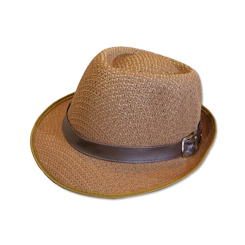 หมวกปานามา Trilby เนื้อนิ่ม (สีน้ำตาล) by Season Tales