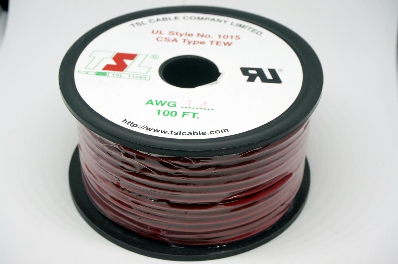 สายไฟสีแดง AWG14 (30m)