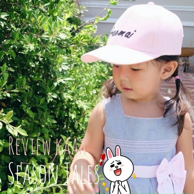 หมวกแก๊ปเด็ก พ่อ แม่ ลูก ติดชื่อ หมวกติดอักษร