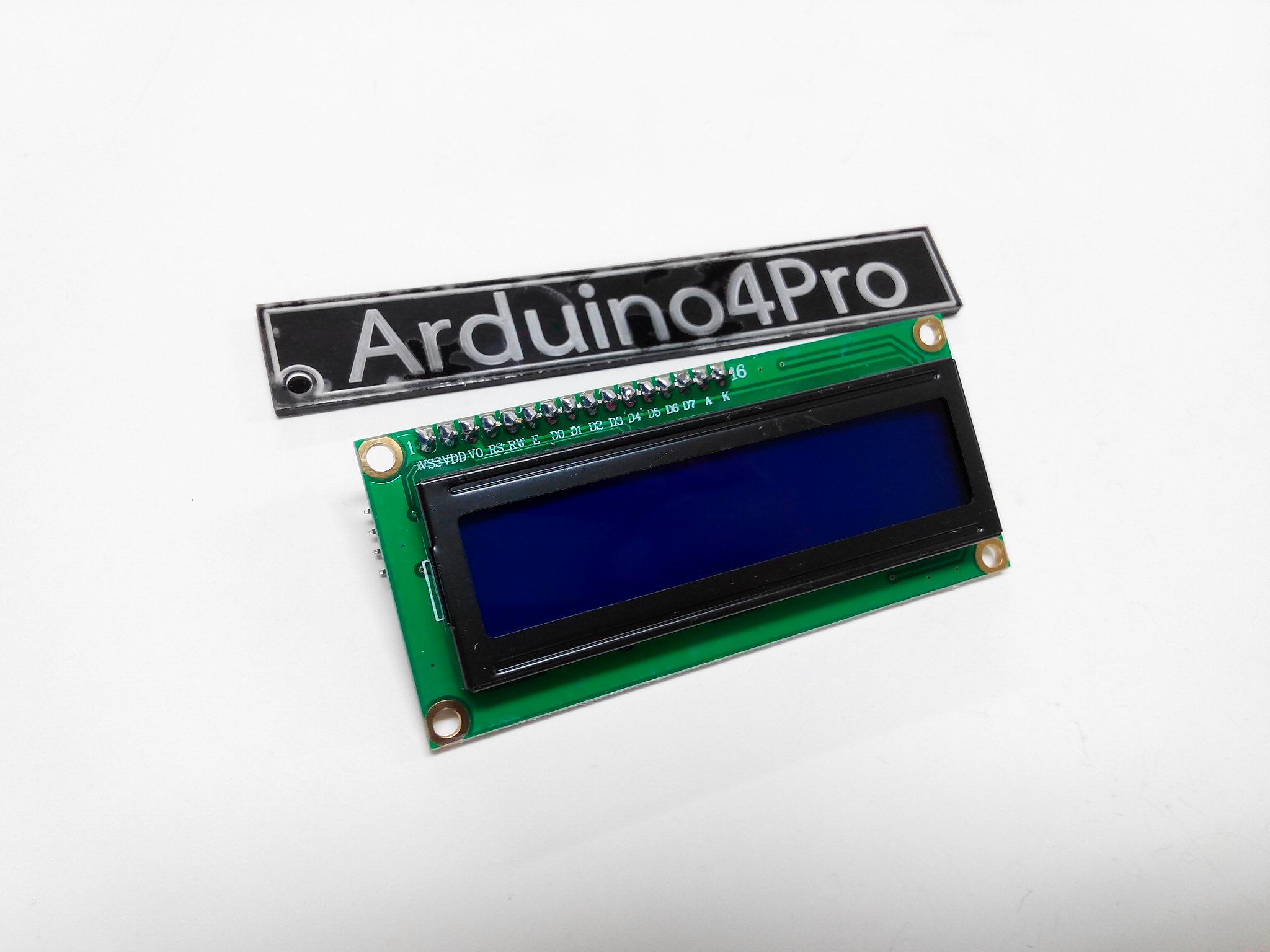 16x2 LCD (Blue Screen) พร้อม I2C Interface