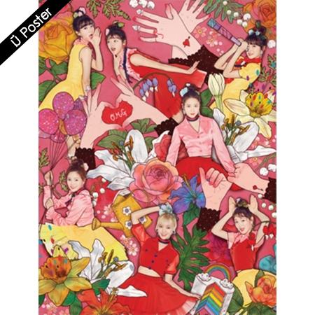 """[พร้อมส่ง 1 อัลบั้ม] OH MY GIRL - 4th Mini Album """"COLORING BOOK"""" + Poster"""