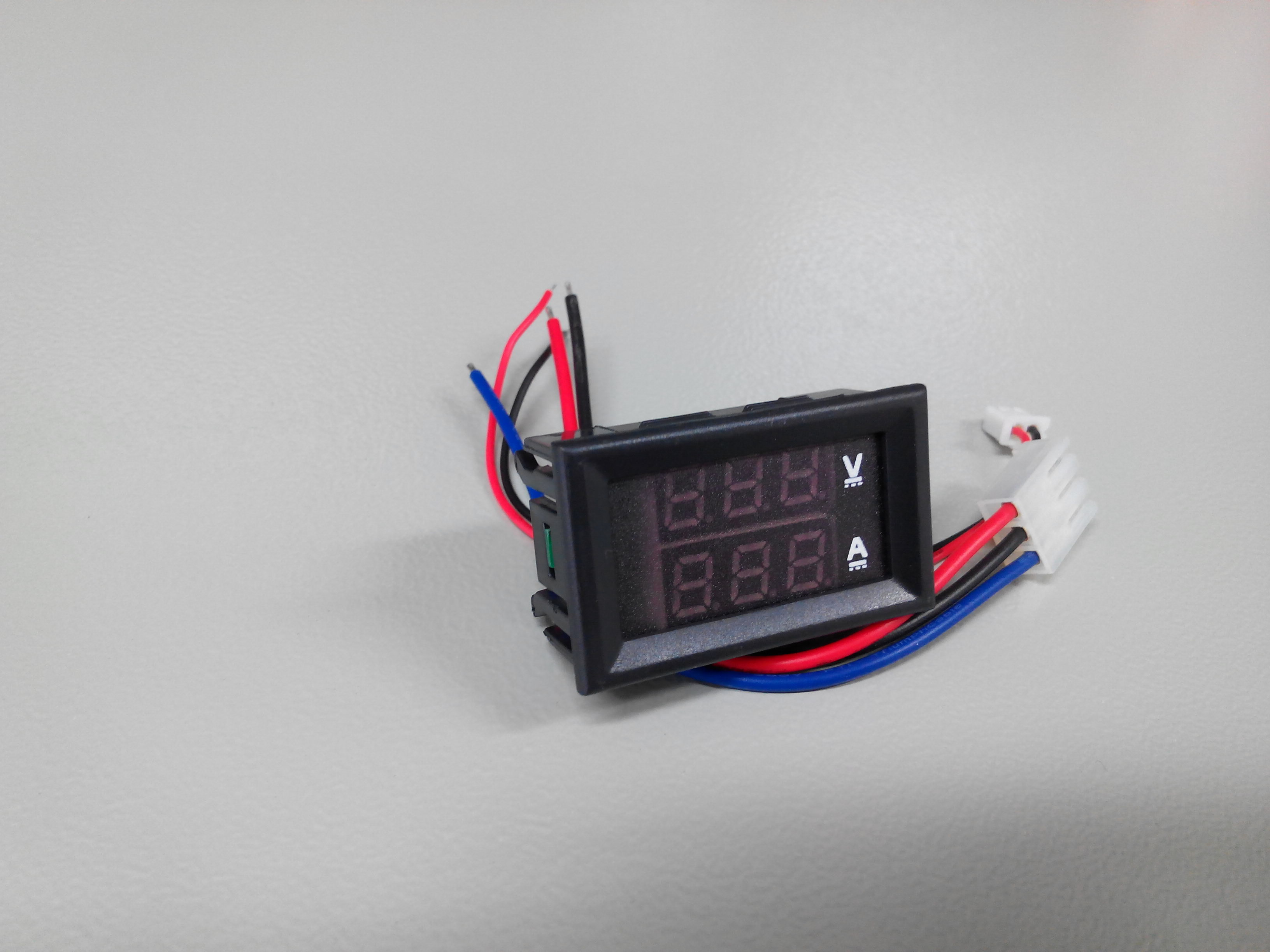 DC 0-100V 10A Digital Voltmeter & Amp-meter / Red Blue LED Dual display Meter
