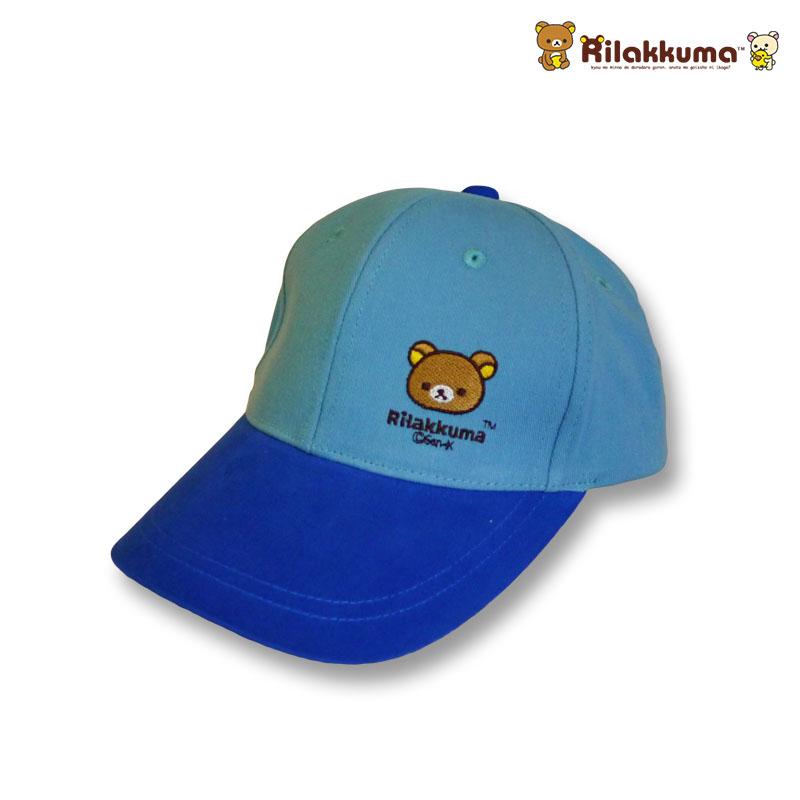 หมวกแก๊ปเด็ก ลายริลัคคุมะ Rilakkuma สีฟ้า