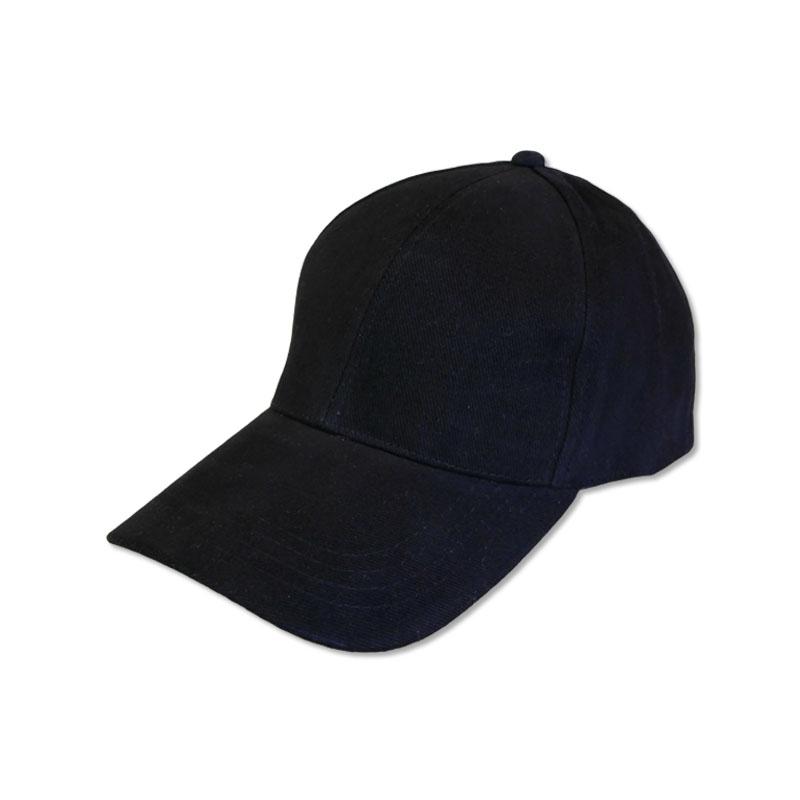 หมวกแก๊ปเปล่า สีพื้น สีดำ by Season Tales