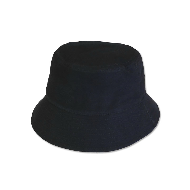 หมวก Bucket บักเก็ต สีพื้น (สีดำ) by Season Tales