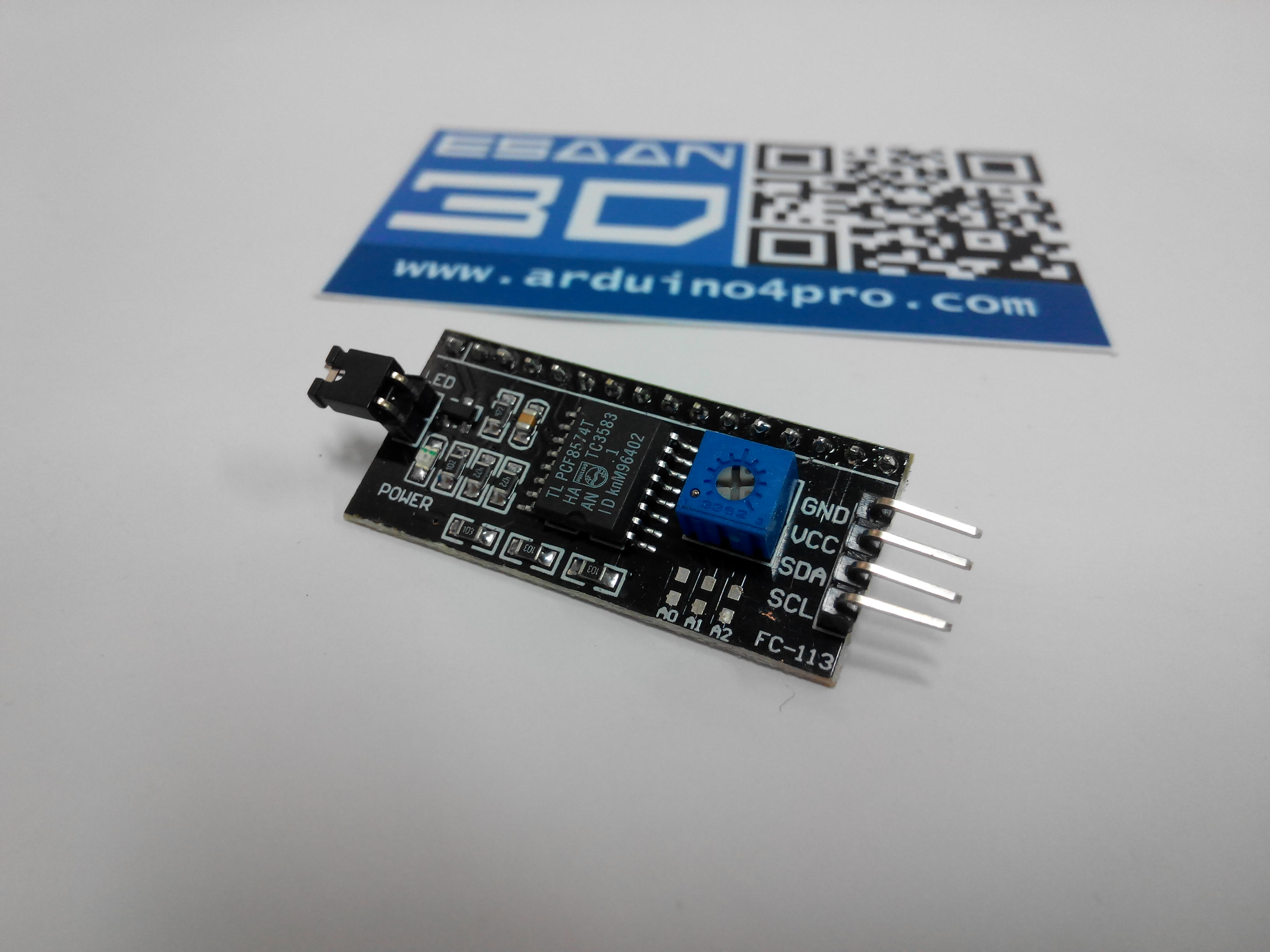I2C/TWI/SPI Interface for 1602 2004 LCD Display