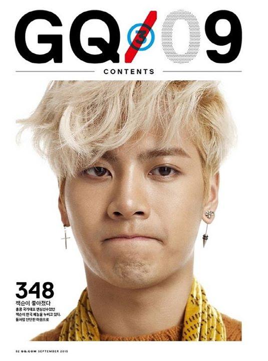 [พร้อมส่ง 2 เล่ม] GQ KOREA : September (2015) (Jackson <GOT7>)