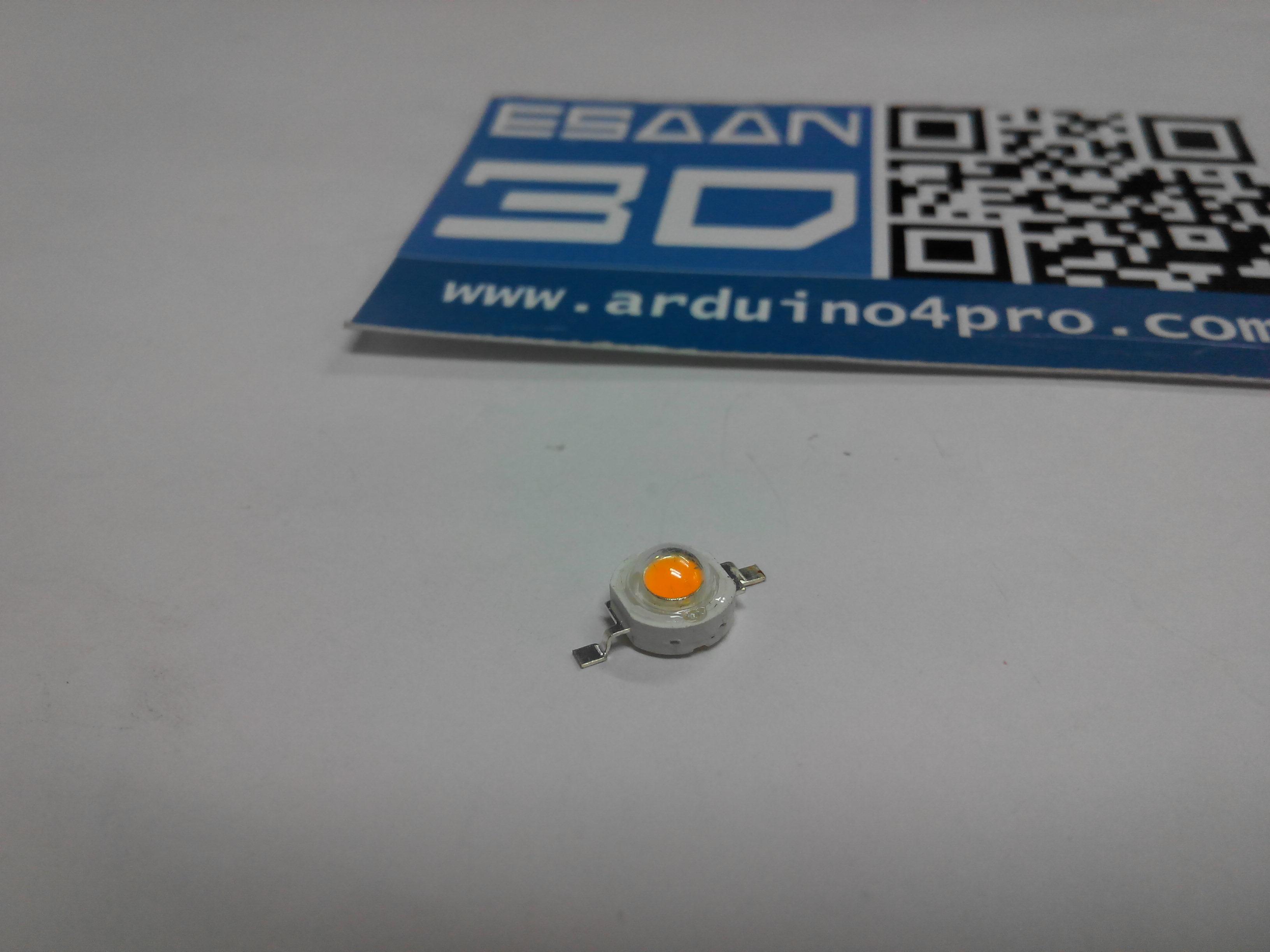 3W power LED แสงสีเหลือง แรงดัน 3.2-3.4V อัตราความสว่าง 240-280LM