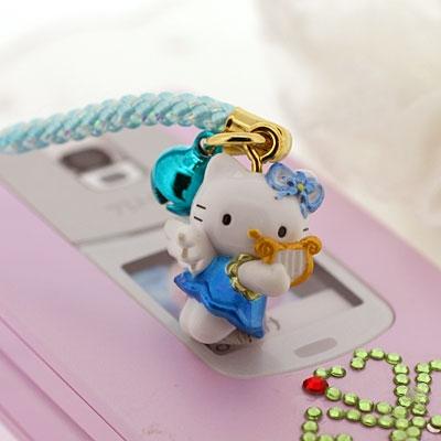 ที่ห้อยมือถือ Sanrio Hello Kitty ซีรี่ย์ Angel Blue นางฟ้าคิตตี้แสนน่ารัก มีกระดิ่งให้เสียงดังกังวาล