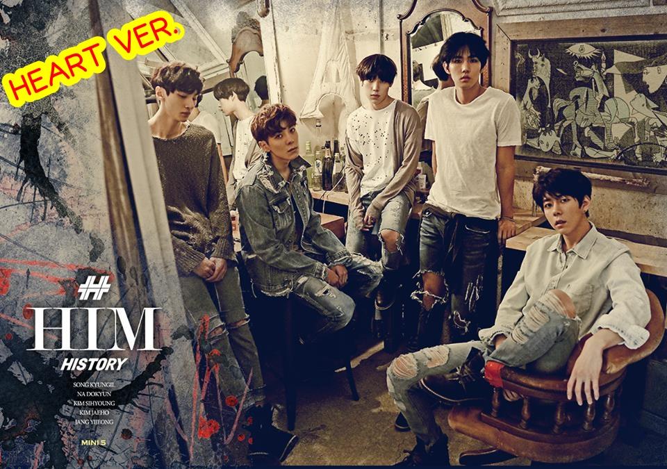 """[PRE-ORDER] HISTORY] 5th Mini Album """"HIM"""" (Heart Ver.)"""