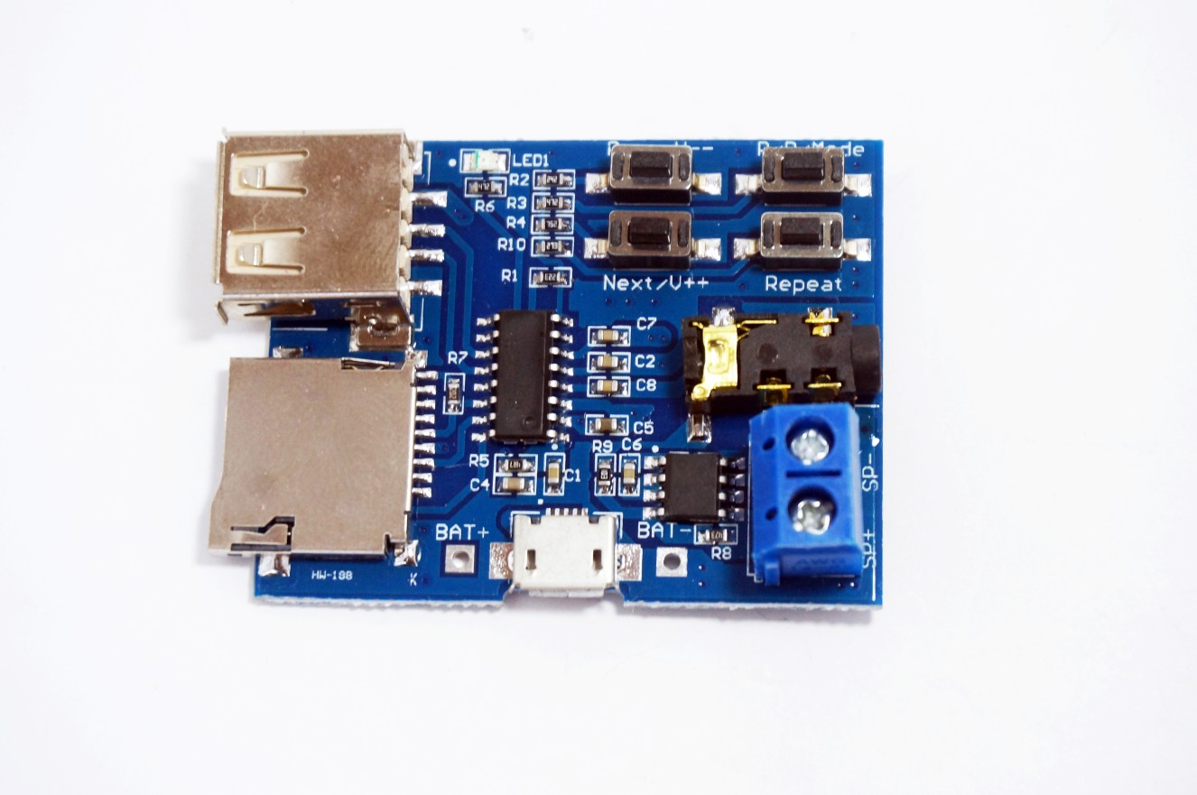 MP3 Format decoder module (Amplifier / decoding audio Player)