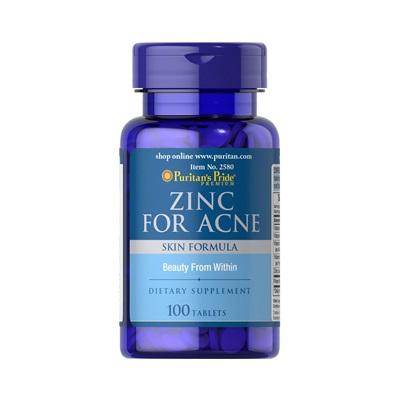 Puritan's Pride สูตร Zinc for Acne 100 tablets ซิงค์สำหรับรักษาสิว
