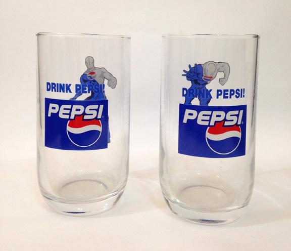 แก้ว Pepsi แก้วน้ำสะสม 2 ใบ