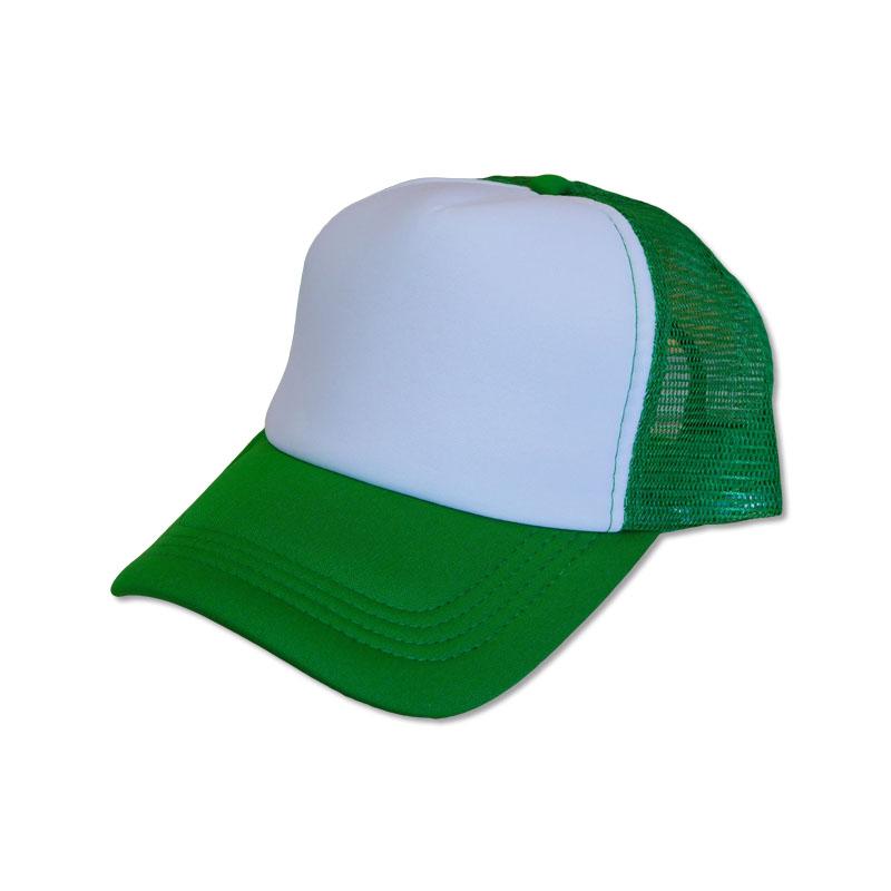 หมวกแก๊ปตาข่าย สีเขียวหน้าขาว by Season Tales