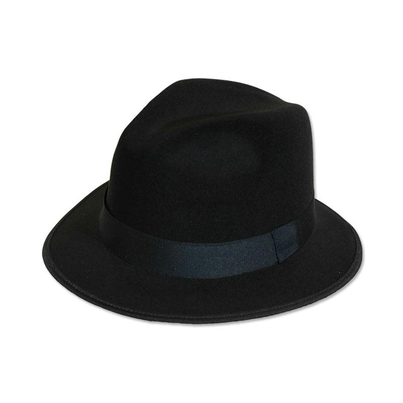 """หมวกปานามา Fedora (สีดำ - ไม่มีโบว์) ปีกกว้าง 2"""" by Season Tales"""