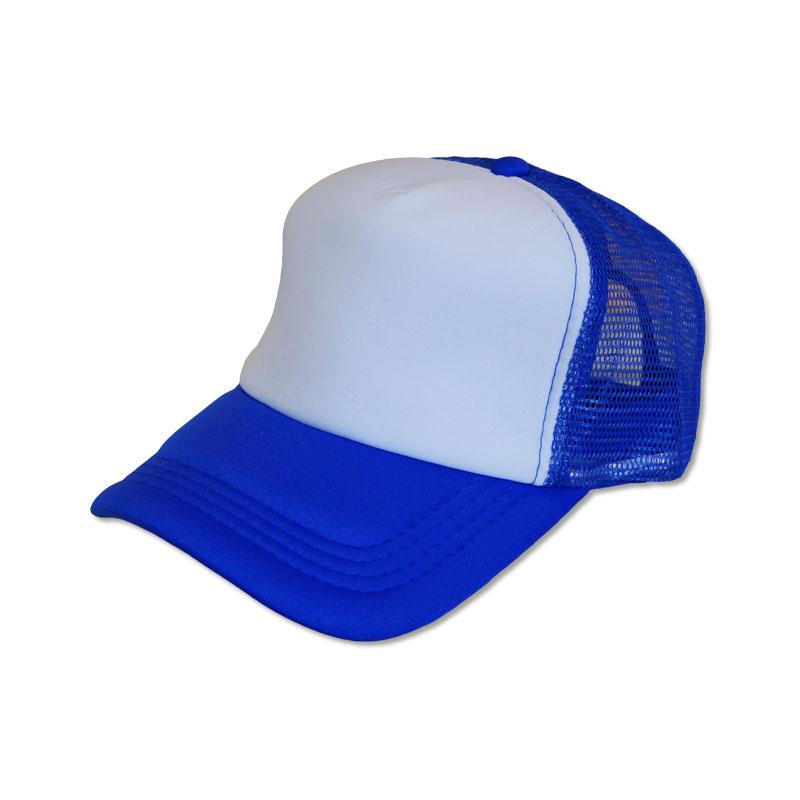 หมวกแก๊ปตาข่าย ฟองน้ำ สีน้ำเงินหน้าขาว by Season Tales