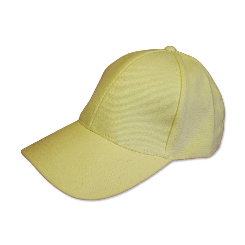 หมวกแก๊ปเปล่า สีพื้น สีเหลืองอ่อน by Season Tales