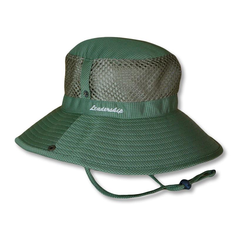 หมวกเดินป่า หมวกตกปลา หมวกปีกรอบ ตาข่ายข้าง แอนตี้แบคทีเรีย (สีเขียวขี้ม้า) by Season Tales