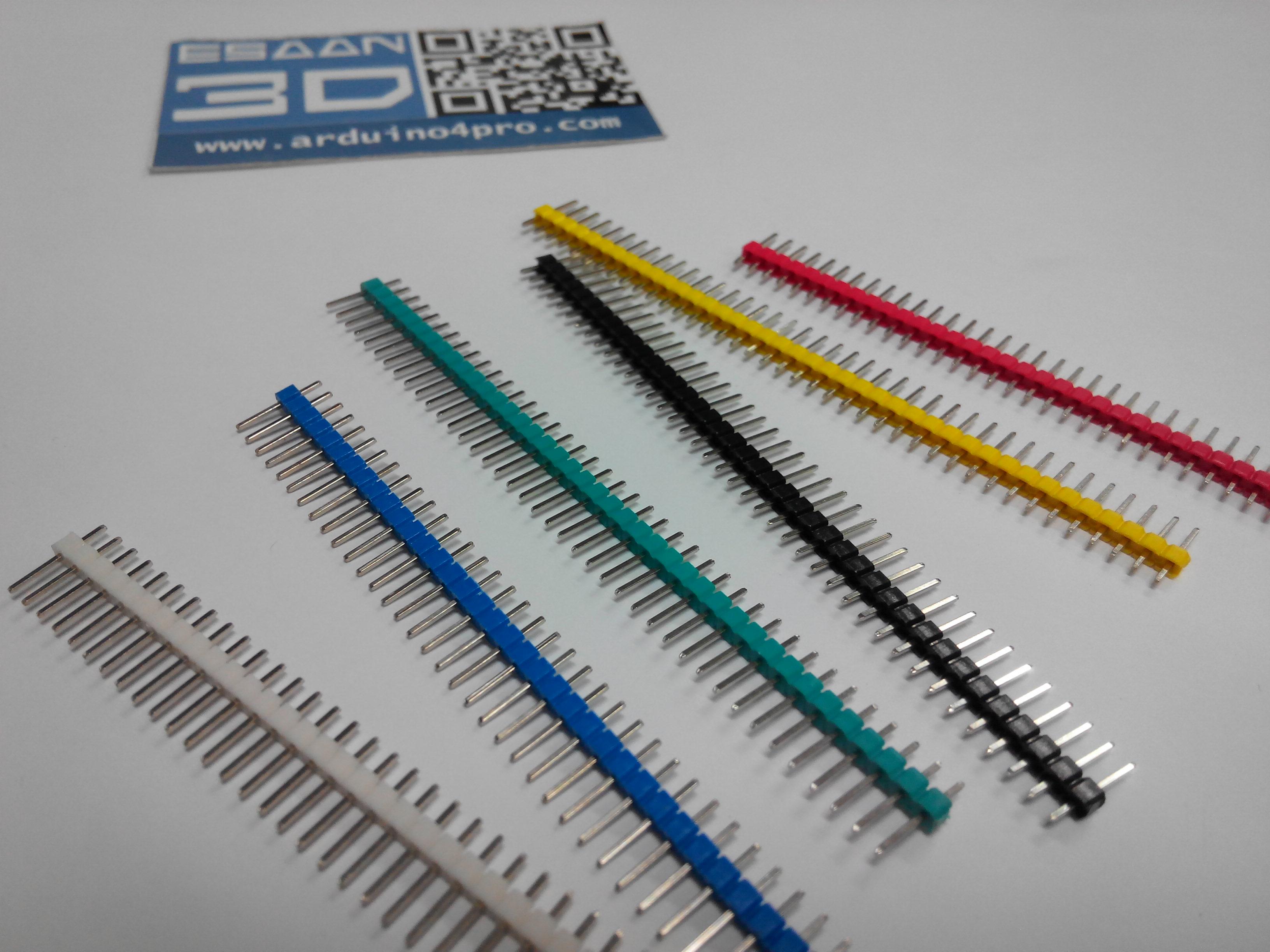 DIP 1x40P ตัวผู้หลายสี (ระยะห่างขา 2.54mm)