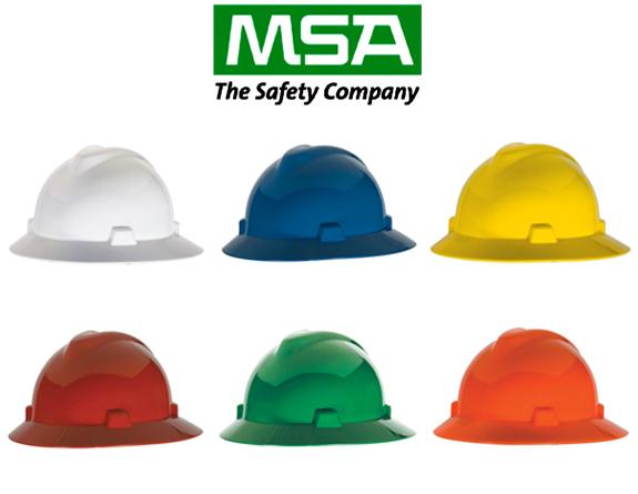 Safety Helmet Full Brim Hat หมวกนิรภัย แบบปีกรอบ โครงรองในปรับหมุน (สินค้า incomplete set ไม่รวมสายรัดคาง)