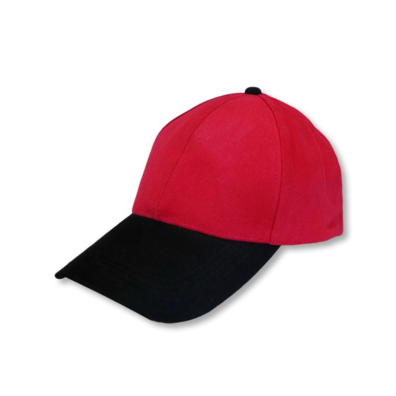 หมวกแก๊ปเปล่า สีพื้น สีแดงปีกดำ by Season Tales