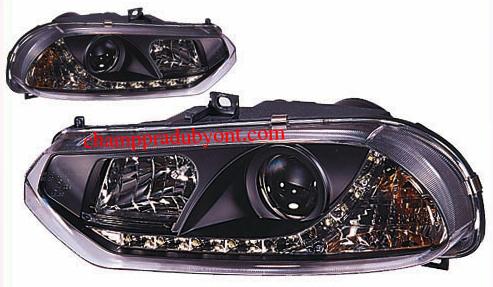 ไฟหน้าโปรเจคเตอร์ ALFA ROMEO 156 ดำ LED ยาว