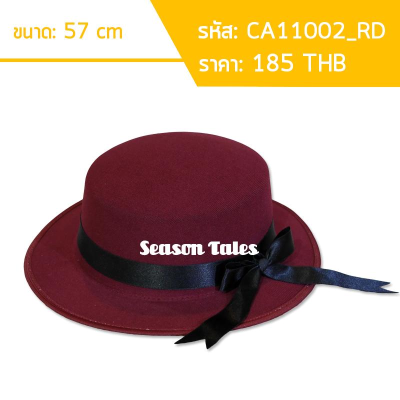 หมวก Cupcake มีโบว์ (สีแดง) by Season Tales