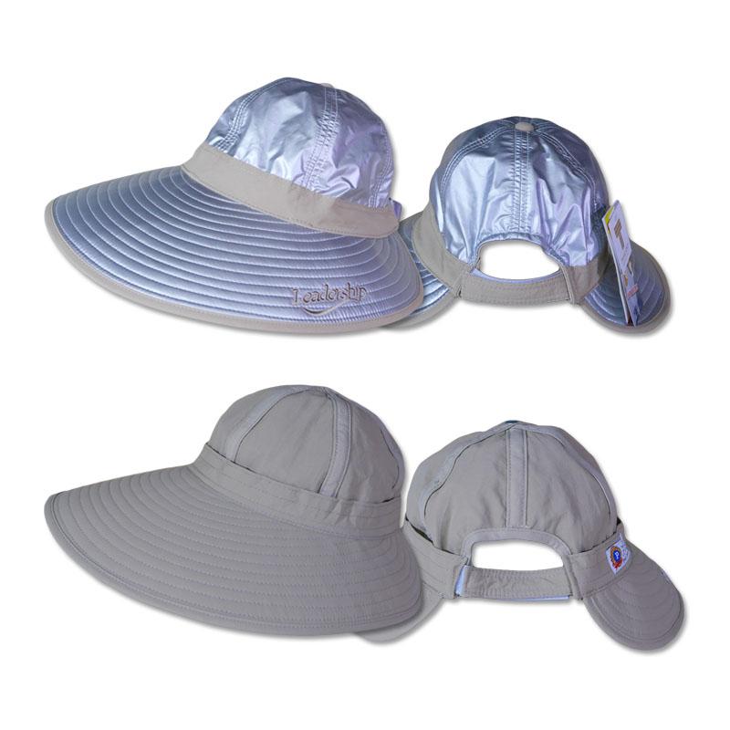 หมวกกันUV ปีกกว้างพิเศษ ใส่ได้ 2ด้าน (สีเงิน/เบจ) by Season Tales