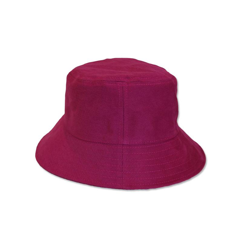 หมวก Bucket หมวกปีกรอบ สีพื้น (สีแดง) by Season Tales