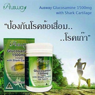 Ausway glucosamine 1500mg กลูโคซามีน ออสเวย์ รวม 2 in 1 กลูโคซามีน (Glucosamine)