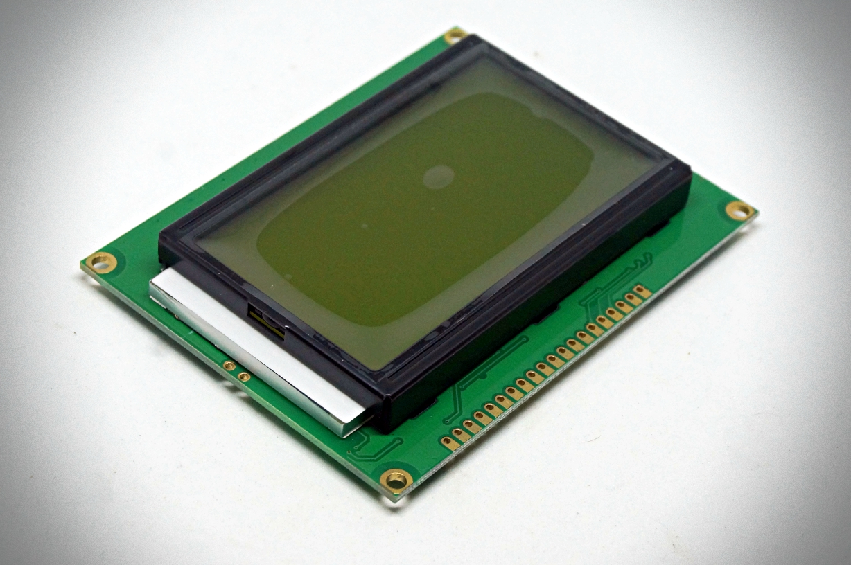 128x64 LCD module จอสีเขียว