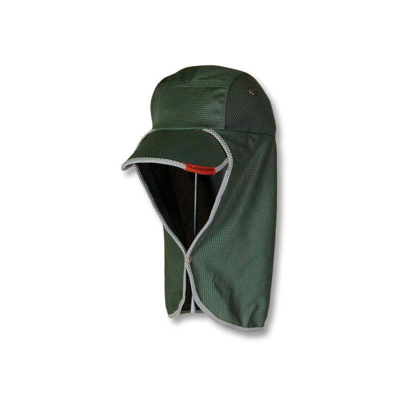 หมวกตกปลา หมวกเดินป่า หมวกแก๊ปปิดคอ ยาวพิเศษ แอนตี้แบคทีเรีย (สีเขียวขี้ม้า) by Season Tales