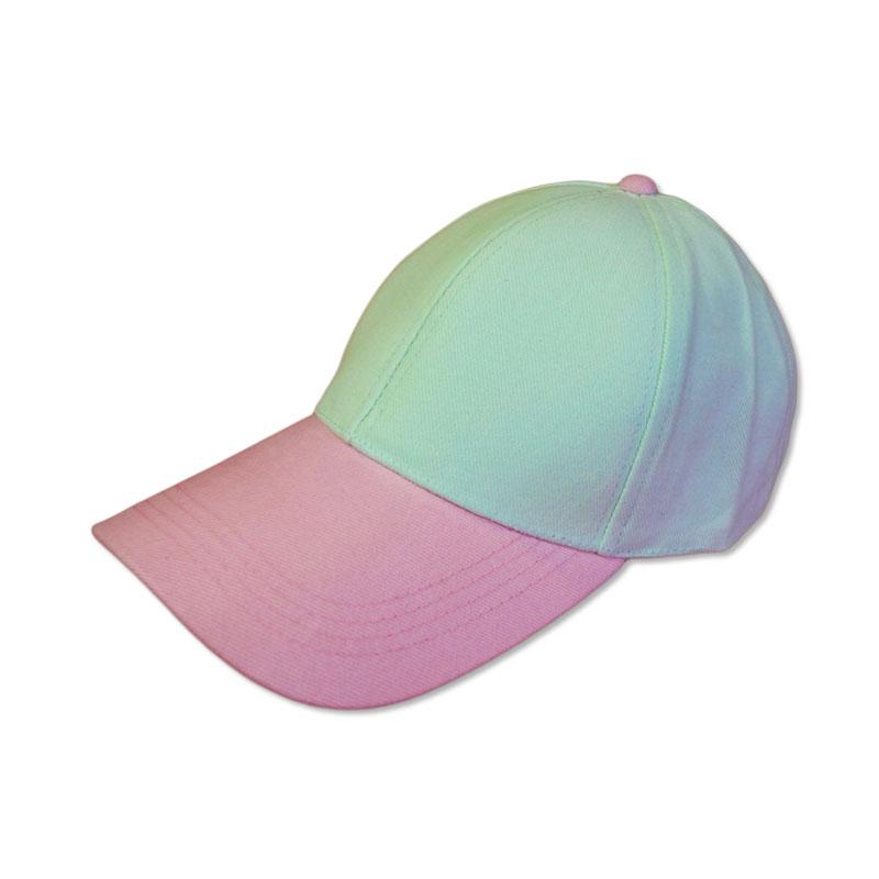 หมวกแก๊ปเปล่า สีพื้น หมวกเขียวมิ้นท์ปีกชมพูอ่อน by Season Tales