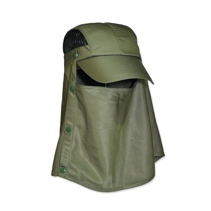 หมวกกันแดด ตกปลา เดินป่า หมวกแก๊ปปิดหน้า/ปิดคอ (สีเขียวขี้ม้า) by Season Tales