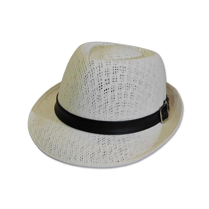 หมวกปานามา Trilby เนื้อนิ่ม (สีขาว) by Season Tales