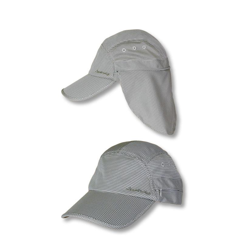 หมวกตกปลา หมวกเดินป่า หมวกแก๊ปปิดคอ เก็บปลายผ้าได้ แอนตี้แบคทีเรีย (สีกากี) by Season Tales