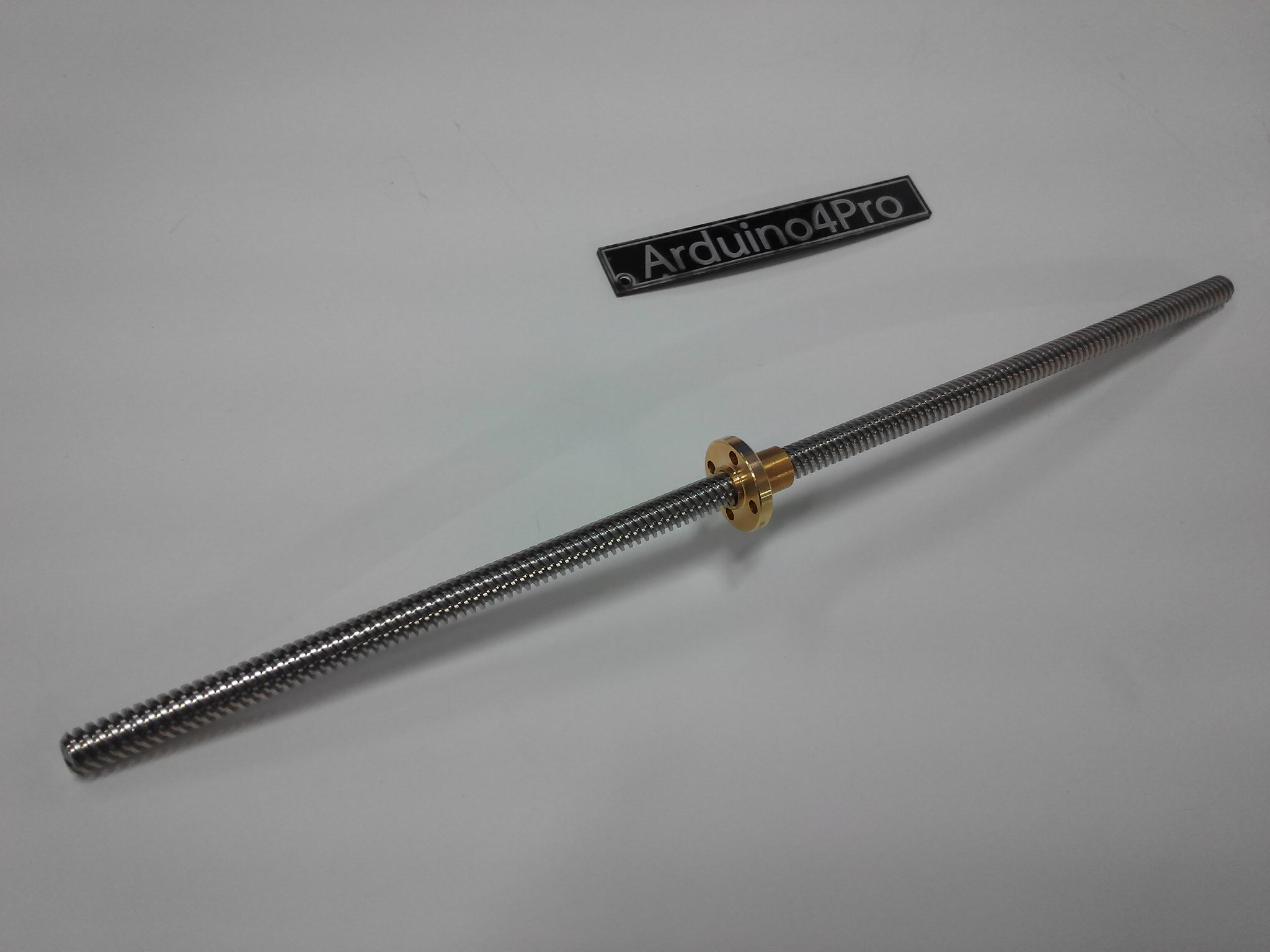 Lead Screw Dia 8mm Length 300mm และ Copper Nut (Pitch=2mm, Lead=8mm)