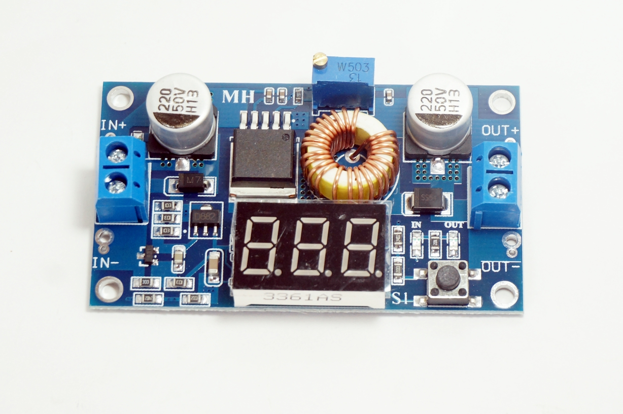 XL4015 DC-DC regulator with led display (5A)