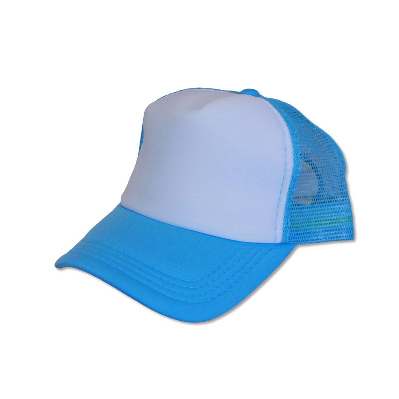 หมวกแก๊ปตาข่าย สีฟ้าหน้าขาว by Season Tales