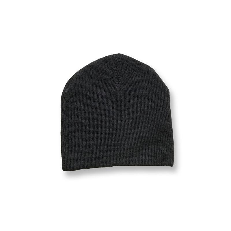 หมวกไหมพรม สไตล์เกาหลี (แบบสั้น) สีดำ
