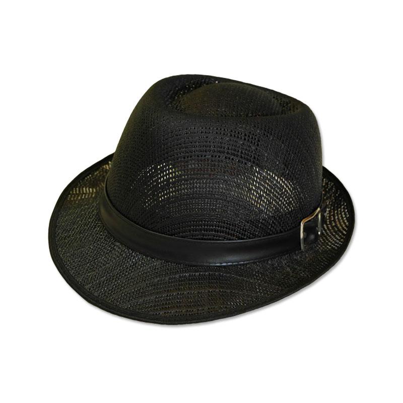 หมวกปานามา Trilby เนื้อแข็ง (สีดำ) by Season Tales