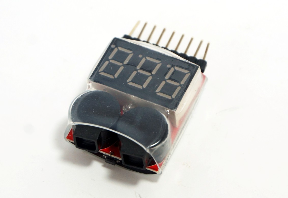 1-8S Lipo/Li-ion/Fe RC helicopter voltage tester